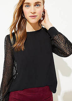 LOFT Shimmer Dot Sleeve Blouse