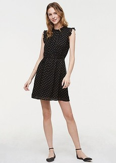 Shimmer Dot Tie Waist Dress