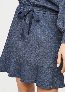 LOFT Shimmer Drawstring Skirt