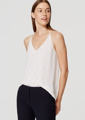 LOFT Shimmer Embroidered Strappy Cami