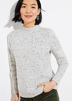 LOFT Shimmer Flecked Mock Neck Sweater