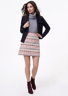 Shimmer Mosaic Shift Skirt