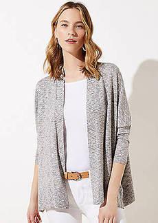 LOFT Shimmer Open Poncho Sweater