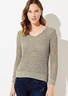 LOFT Shimmer Open Stitch Sweater