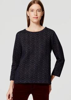 LOFT Shimmer Quilted Sweatshirt