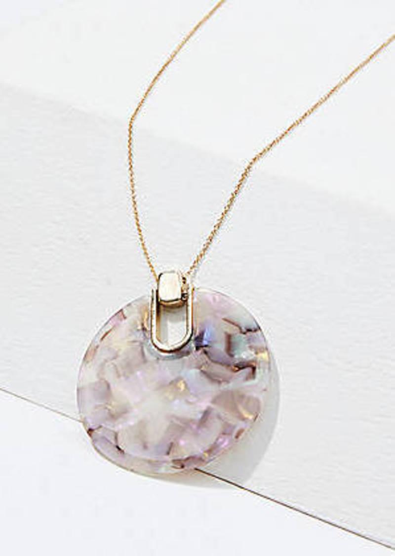 LOFT Shimmer Resin Pendant Necklace