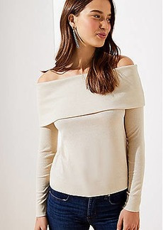 LOFT Shimmer Ribbed Top