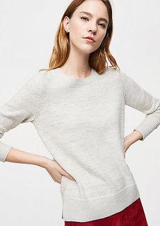 LOFT Shimmer Round Neck Sweater