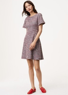 LOFT Shimmer Shoulder Button Flare Dress