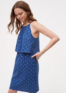 Shimmer Spot Overlay Dress