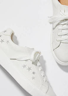 LOFT Shimmer Star Embroidered Sneakers