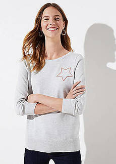 LOFT Shimmer Star Sweater