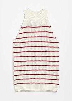 LOFT Shimmer Stripe Stitchy Halter Sweater