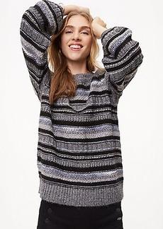 LOFT Shimmer Stripe Sweater