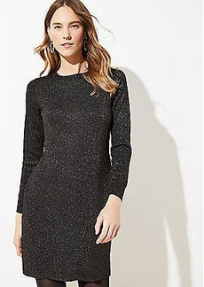LOFT Shimmer Swing Sweater Dress