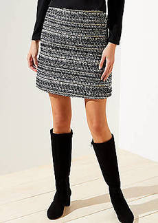 LOFT Shimmer Tweed Shift Skirt