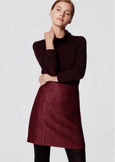 LOFT Shimmer Tweed Shift Skirt