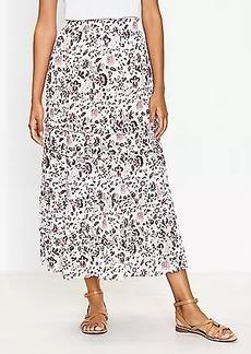 LOFT Shimmer Vine Tiered Maxi Skirt