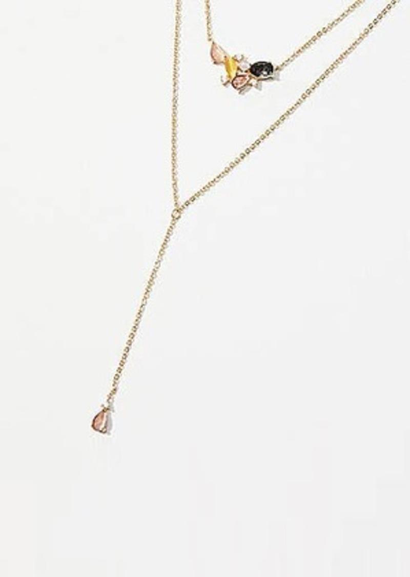 LOFT Gem Cluster Delicate Necklace Set