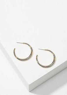 LOFT Shine Hoop Earrings