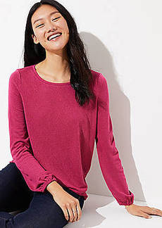 LOFT Shirred Back Tee