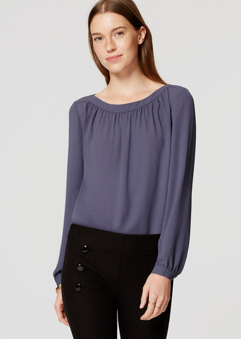 LOFT Shirred Blouse