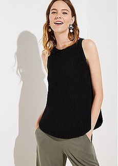 LOFT Shirttail Sweater Tank