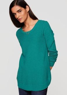 LOFT Shirttail Tunic Sweater