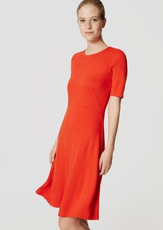Short Sleeve Flare Dress