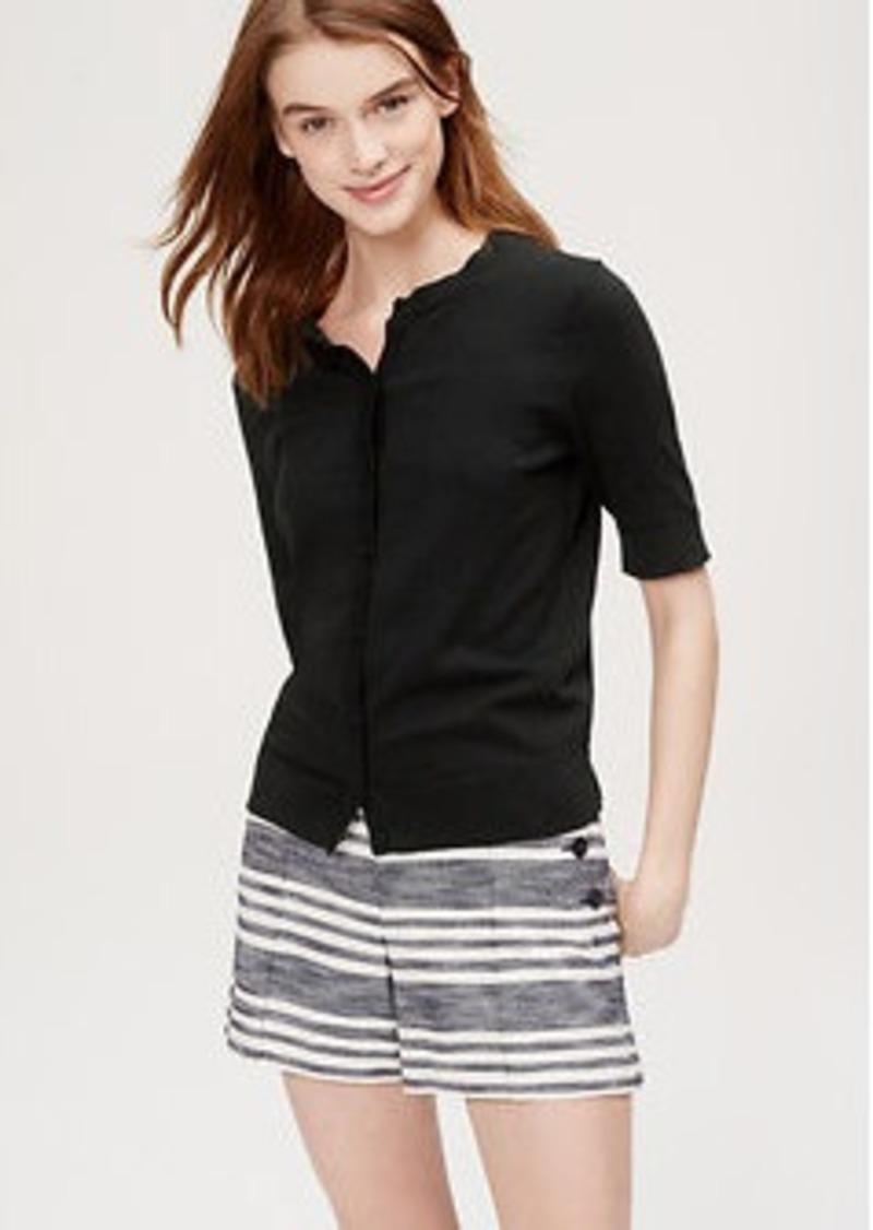 LOFT Short Sleeve Signature Cotton Cardigan