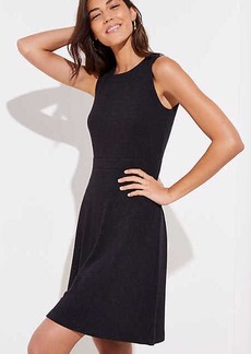 LOFT Shoulder Button Flare Dress