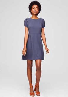 LOFT Shoulder Button Flare Dress