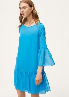 Shoulder Button Flounce Dress