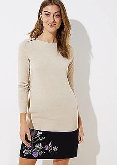 LOFT Shoulder Button Tunic Sweater
