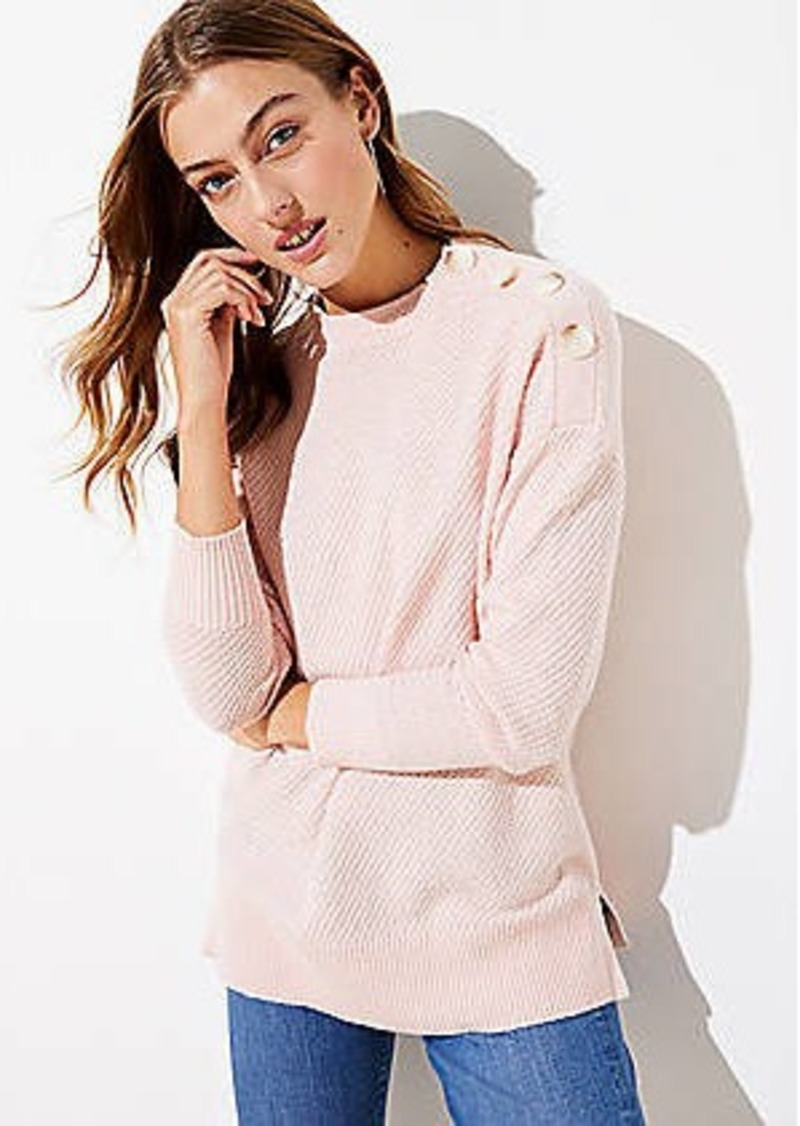 LOFT Shoulder Button Tunic Sweater