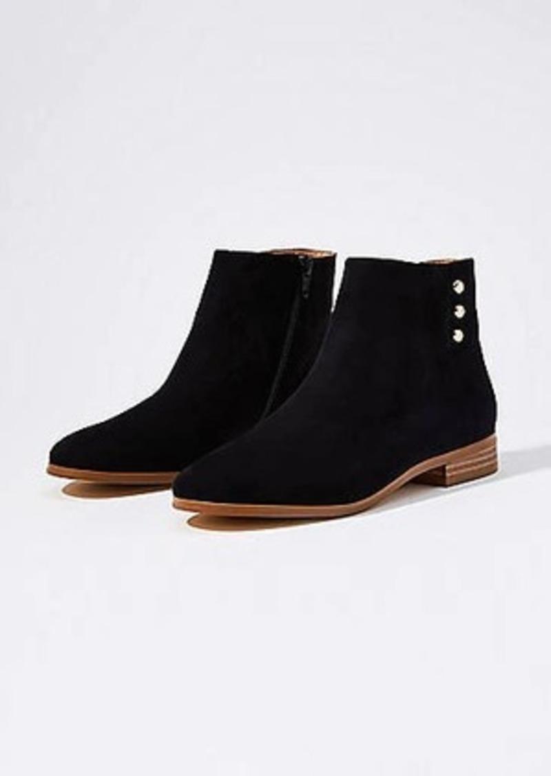 LOFT Side Button Ankle Boots