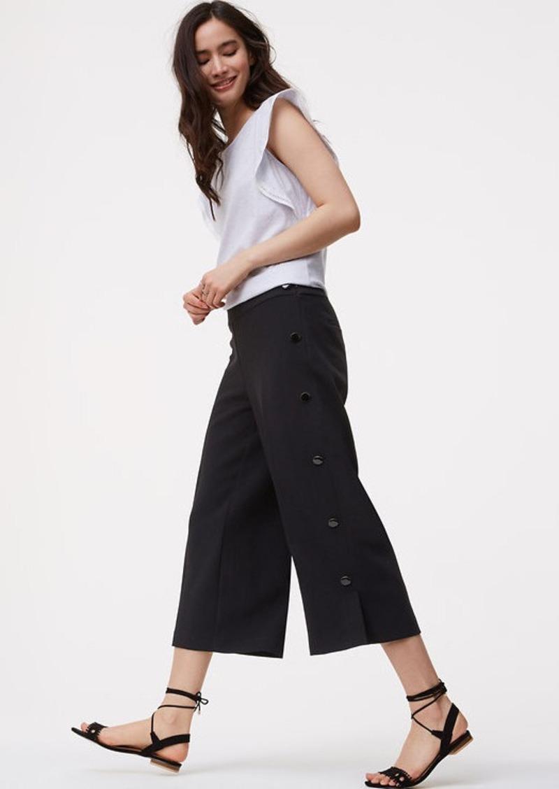 063f5cf84c43ec LOFT Side Button Culottes | Casual Pants