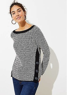LOFT Side Button Sweater