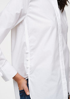 Side Button Tunic Shirt