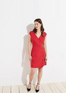 LOFT Side Button Wrap Dress