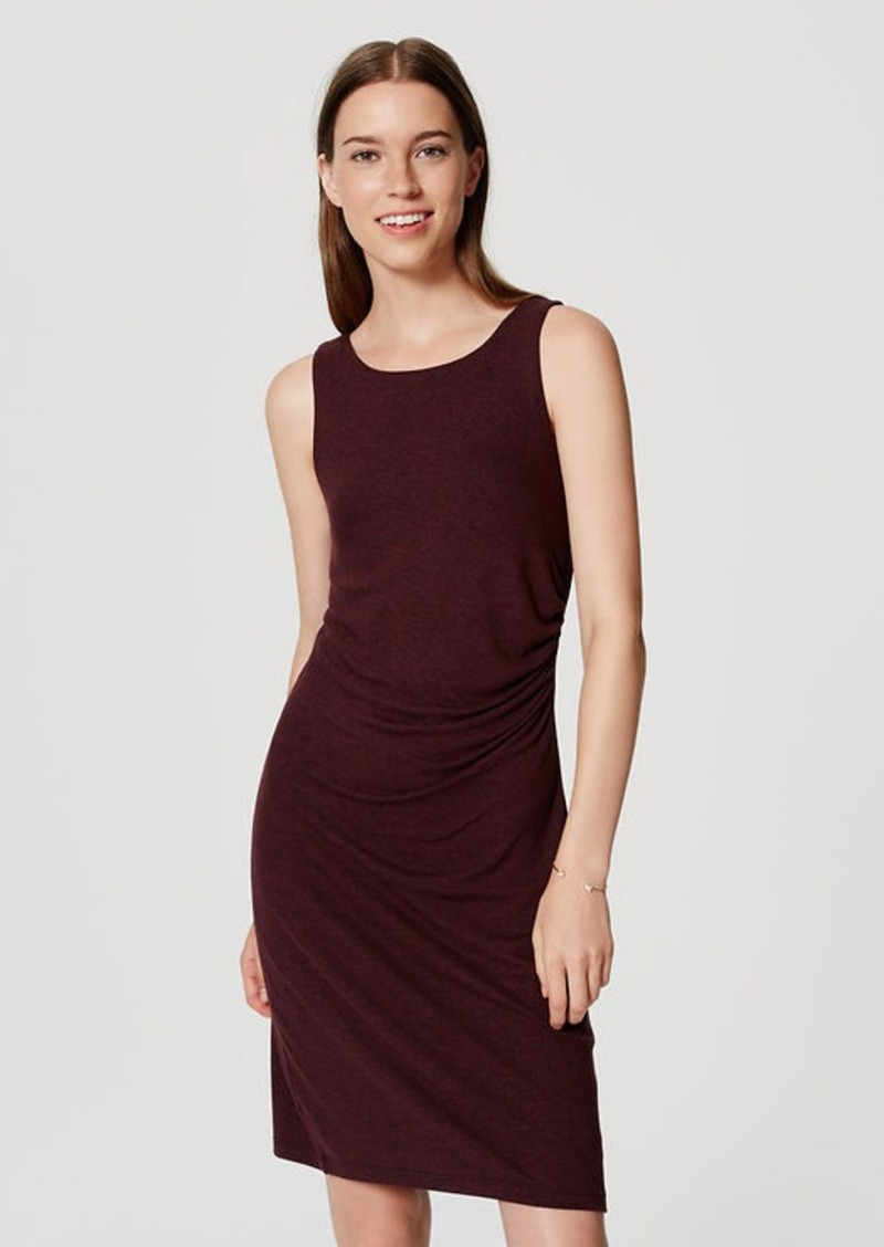 LOFT Side Shirred Sheath Dress