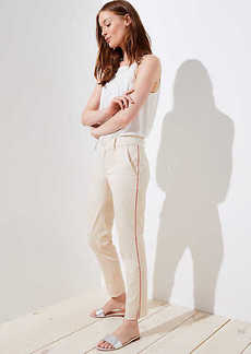 LOFT Side Stripe Girlfriend Chinos