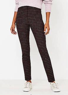 LOFT Side Zip Skinny Pants in Plaid