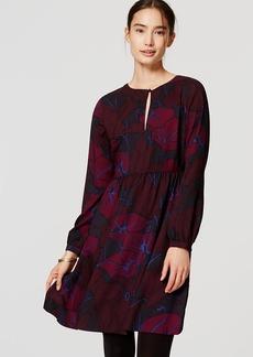Silky Floral Keyhole Dress