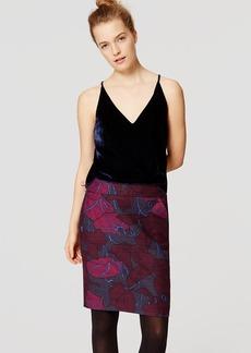 Silky Floral Pencil Skirt
