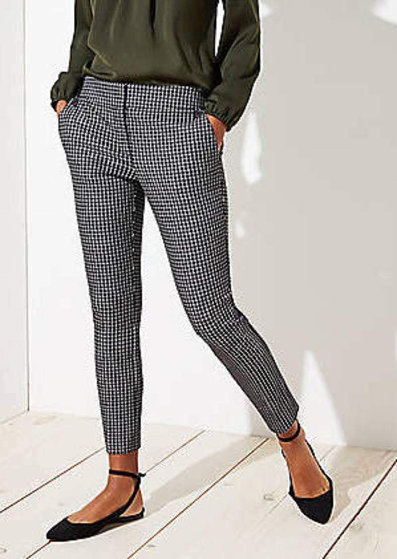 LOFT Skinny Button Plaid Pants in Julie Fit