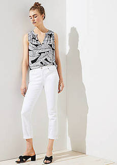 LOFT Skinny Crop Jeans in White