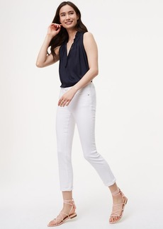 Skinny Crop Jeans in White