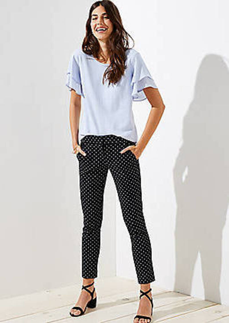 LOFT Skinny Polka Dot Ankle Pants in Julie Fit