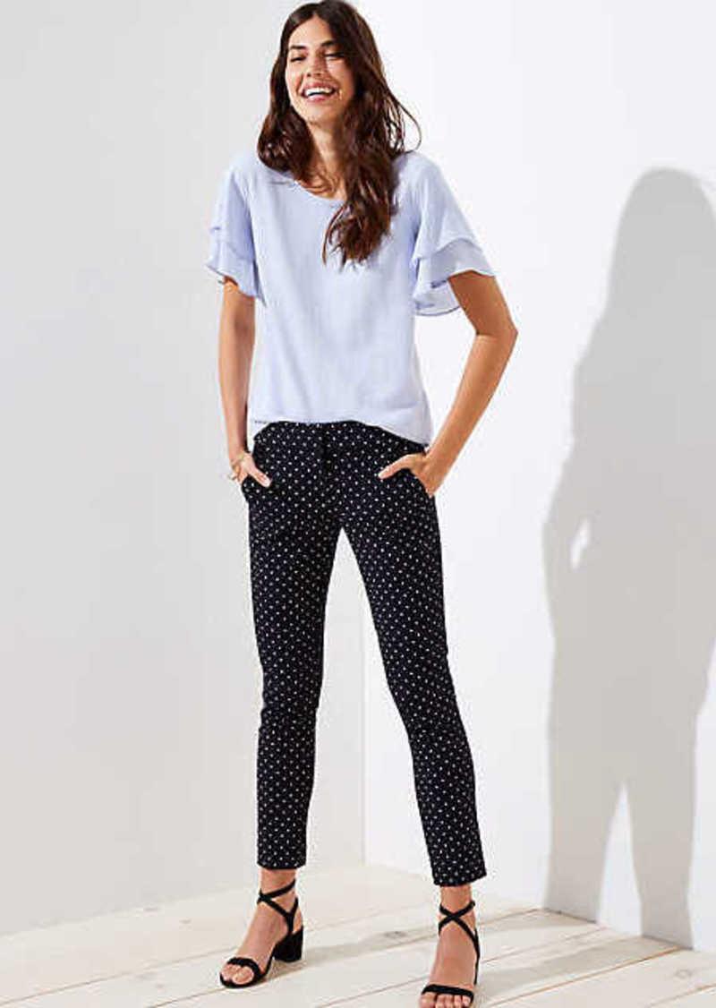 LOFT Skinny Polka Dot Ankle Pants in Julie Fit